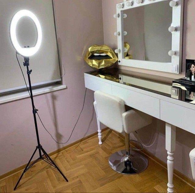 Ring Light Iluminador 10 Polegadas + Tripé 2 Metros Altura Promoção - Foto 5