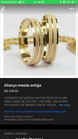 Alianças de compromisso e noivado - Foto 4