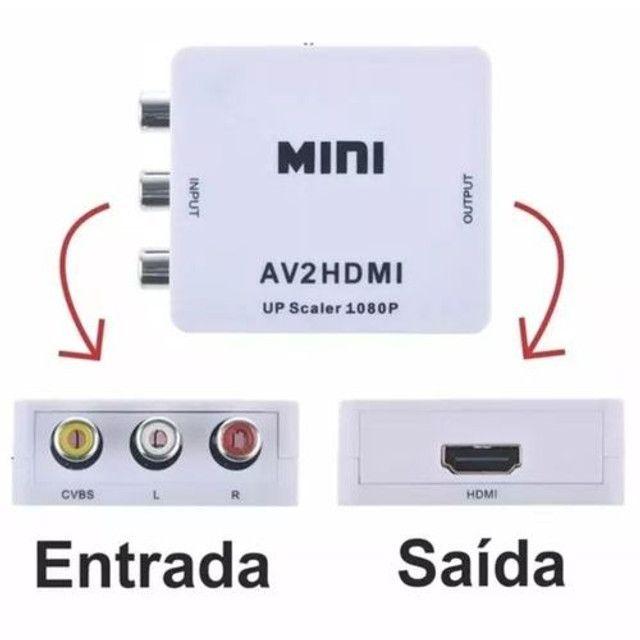 Conversor Av Para Hdmi Rca Audio E Video Full Hd 1080p - Foto 2
