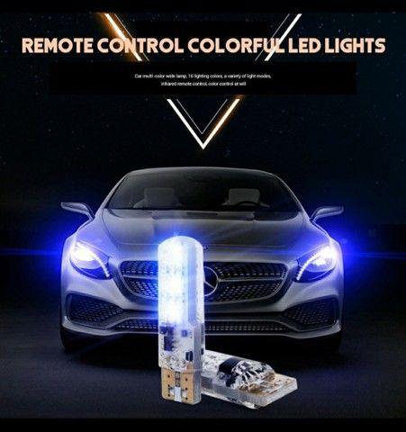 2 Peças Lâmpada Led Com Controle Remoto W5W 501 Para Carro W5W 501 À Prova D 'Água / - Foto 5