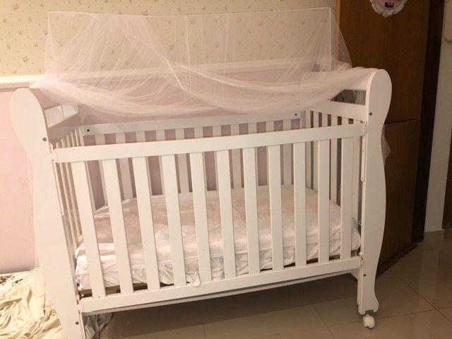 Berço Peroba vira mini cama  - Foto 3