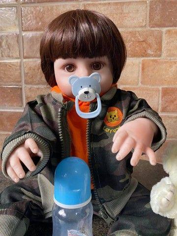Bebê Reborn Menino todo em silicone realista Nova Original (aceito cartão ) - Foto 4