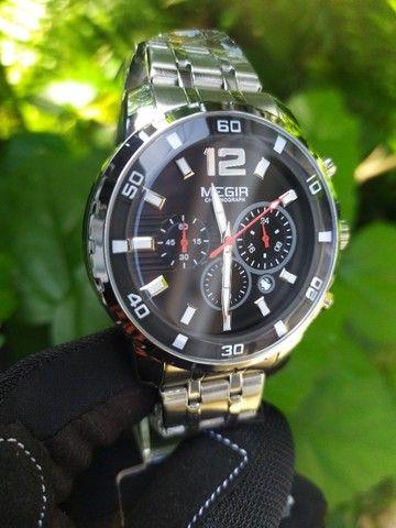 Relógio Megir Luxo Original entrega grátis - Foto 3