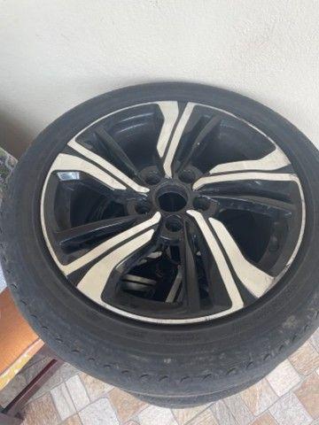 Vendo barato Rodas 17  5 furos zeradas do Honda Civic 2020 com pneus  - Foto 2