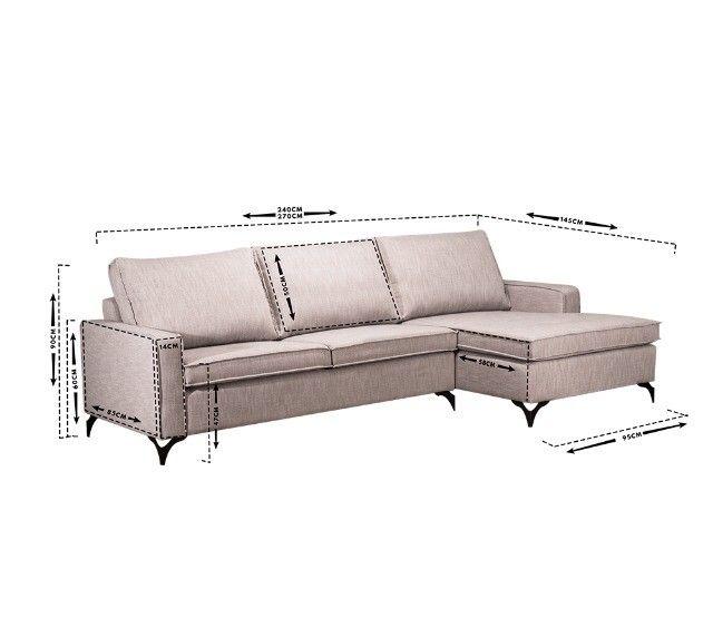 Sofas Living com Chaise - Foto 2