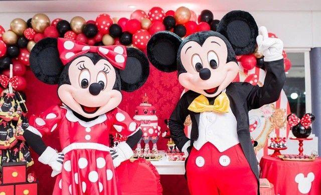 Fantasia Mascote Mickey e Minnie Personagens Vivos