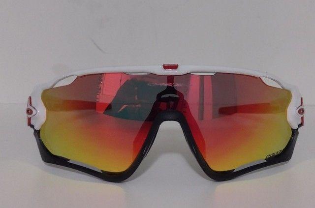 Óculos Ciclismo Oakley Jawbreaker Branco - Foto 4