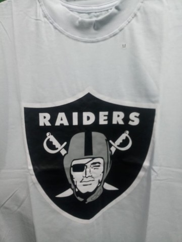 Camisa Raiders NFL Branca Masculina - Foto 2
