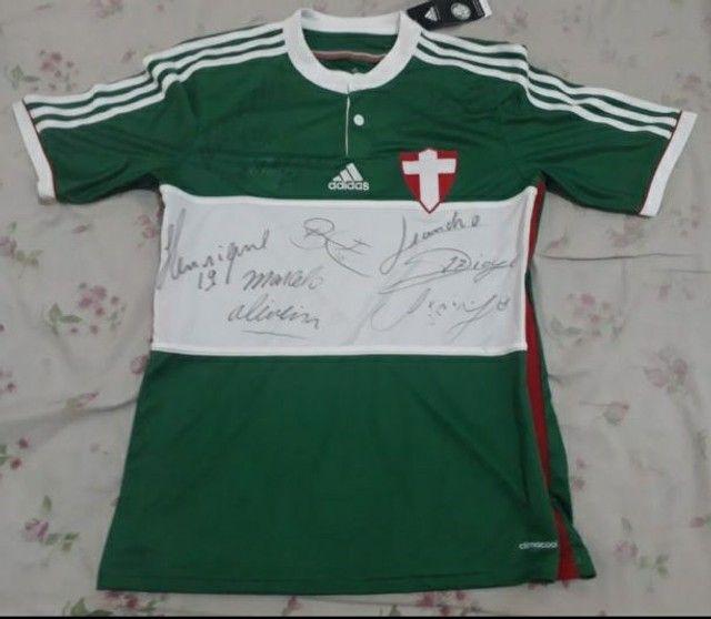 Camisa Palmeiras Savoia nova na etiqueta autografada.  - Foto 2