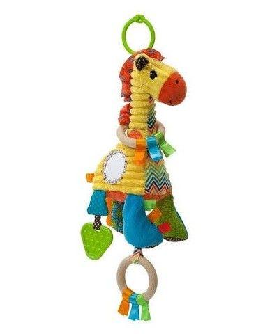 Girafa de pelúcia sensorial - Infantino