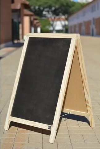 Cavalete Tabuleiro de Calçada - Expositor Negro