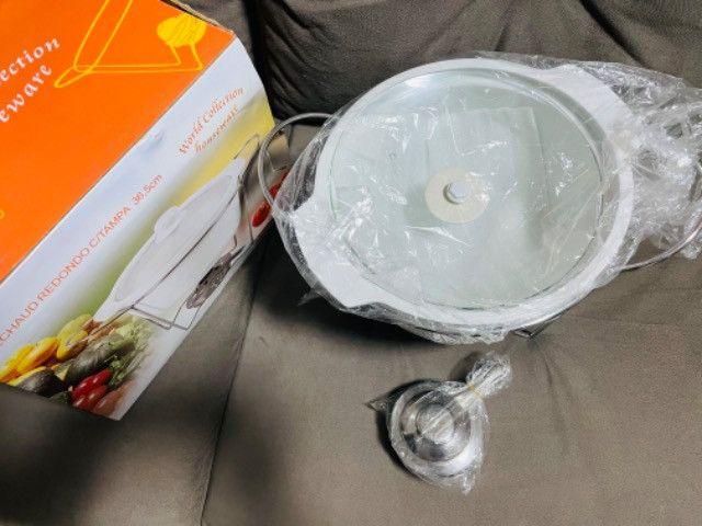 Réchaud Redondo com tampa 36,5cm em porcelana - Foto 2