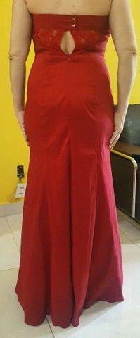 Vestido de Festa TVZ Vermelho - Foto 2