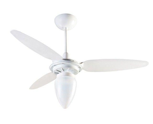 Ventilador de Teto Ventisol modelo Wind Branco novo, em dinheiro 127v