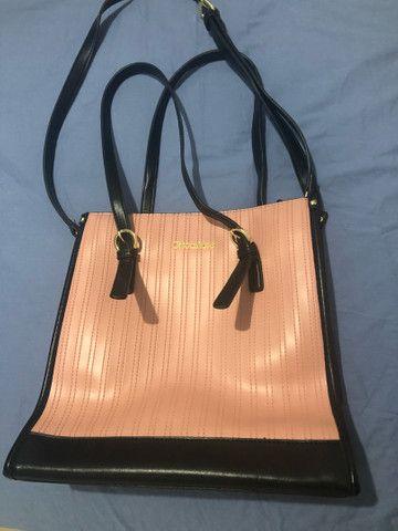 Bolsa rosa e preta chicafiore  - Foto 6
