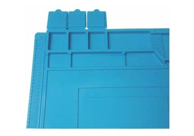 Manta Tapete Anti-Estático 45cm x 30cm com Divisória - Bancada Conserto de Celular - Foto 5