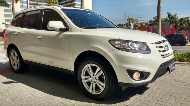 Exceptional Hyundai Santa Fé Branca 7 Lugares Com Teto