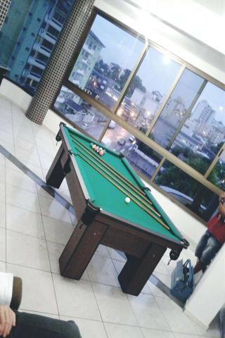 Mesa de Sinuca e Bilhar Cor Tabaco Tecido Verde Mod. MYOI1643 - Foto 2