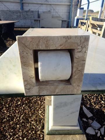 Nicho para papel higiênico em marmore e granito