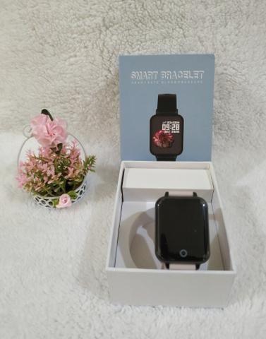 Promoção Smartwatch telefone Inteligente da Frequência Cardíaca Monitor de Pressão Arteria - Foto 3