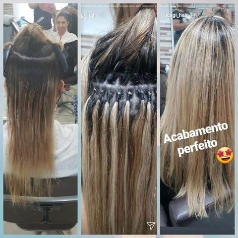 Colocacao e manutencao de mega hair