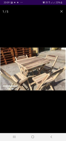 Jogo mesas madeira ypê. Para Bar, restaurante e lanchonetes.