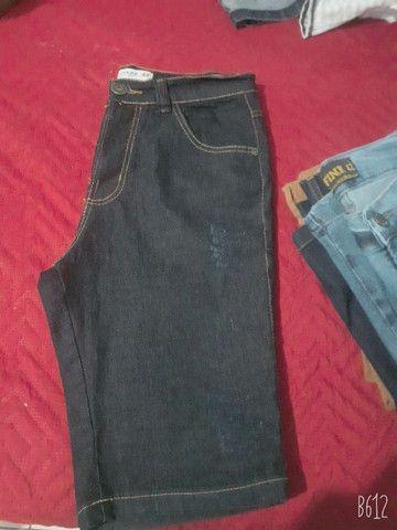 bermuda jeans masculina  semi nova so 40 reais