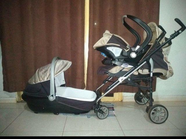 Trio carrinho , moises e bebe conforto chicco - Foto 3