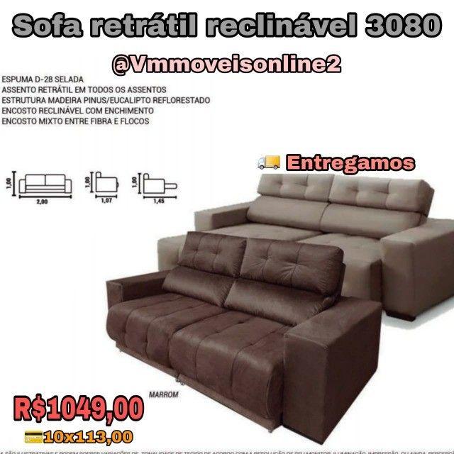 Sofá  sofá   sofá  retrátil  reclinável