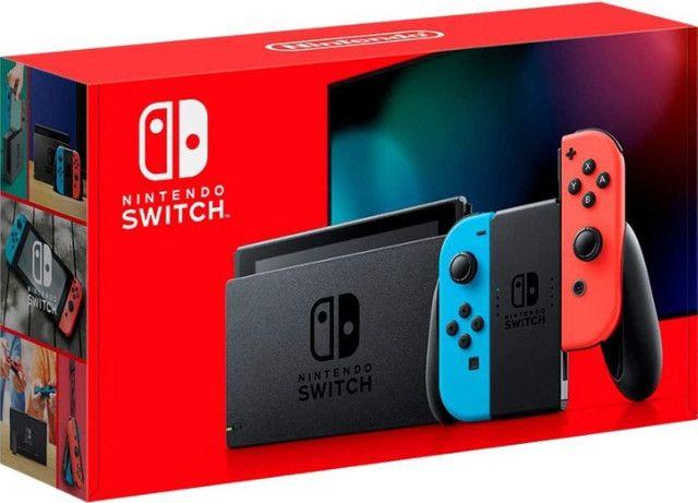 Nintendo Switch 32GB Neon Blue Red - NOVO - Loja Física