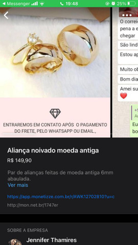 Alianças de compromisso e noivado - Foto 3