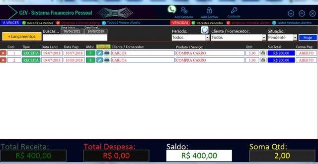 planilha controle financeiro em access contas a pagar contas a receber - Foto 3