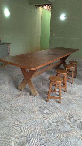Mesa grande de madeira mogno - Foto 2