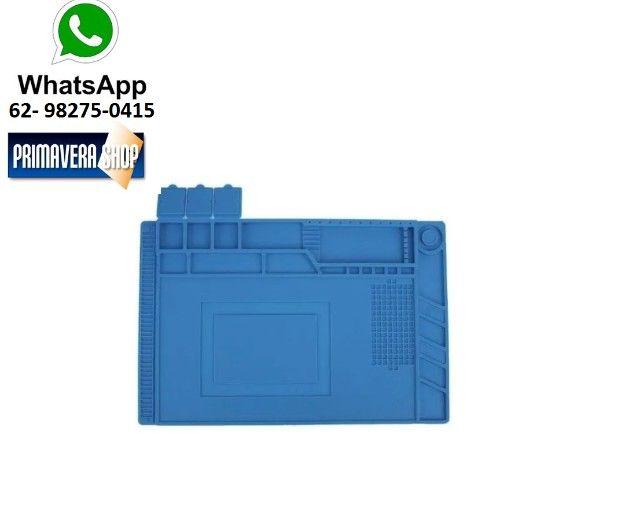 Manta Tapete Anti-Estático 45cm x 30cm com Divisória - Bancada Conserto de Celular - Foto 2
