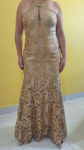Vestido de Festa ELAÉ Dourado
