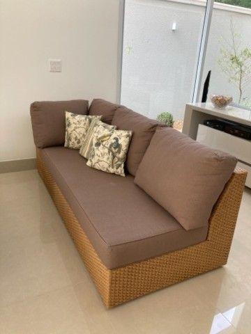 """Vendo sofá em junco de 3mx2,10 (dois módulos de 2,10 que se somam em """"L""""). - Foto 6"""