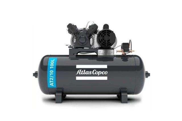 Compressor 10/100 litros Biv 110/220v 140psi Atlas modelo AT2