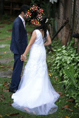 Vestido noiva baixinha