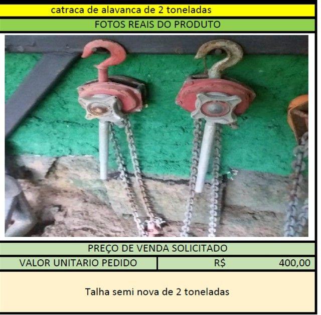 Catraca de Alavanca de 2 Toneladas - 2 unidades disponíveis - Foto 2