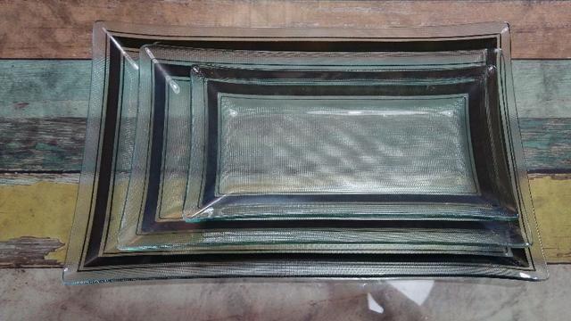 Travessa de vidro- Kit com 3 peças