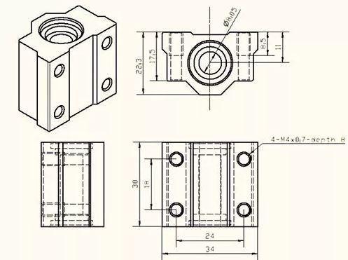 COD-CP132 Pillow Block 8mm Com Rolamento Linear Sc8uu Cnc Arduino Automação Robotica - Foto 3