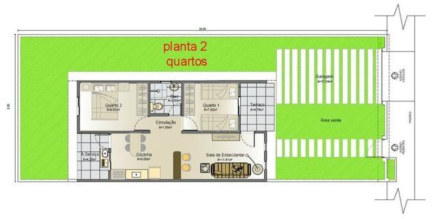 Vendo Casas 2 ou 3 quartos na cidade jardim - Financiamento Caixa - Entrada com FGTS - Foto 4