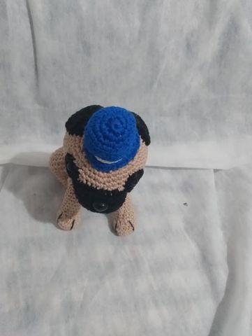 Cachorro Pug Crochê Amigurumi Brinquedo De Pelúcia Feito À Mão ... | 480x361