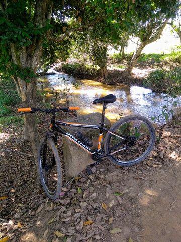 Bicicleta Aro 29 Woltz Aço 21 Marchas Freio A Disco - Preto e Vermelho - Foto 2