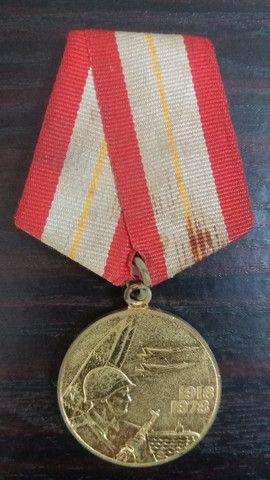 Medalha União Soviética 60 anos da Primeira Guerra