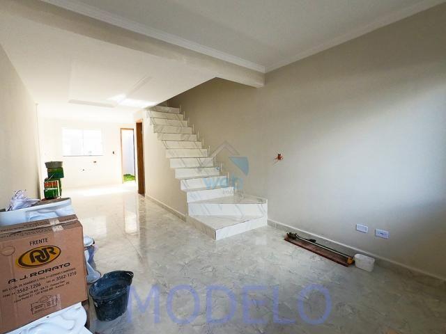 Sobrado à venda com 2 quartos, 72,99 m², terraço, próximo ao Santuário da Divina Misericór - Foto 4