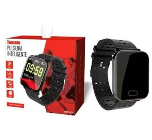 Relógio Prova D'água SmartWatch Inteligente Bluetooth Monitor Cardiaco Tomate Mtr-23