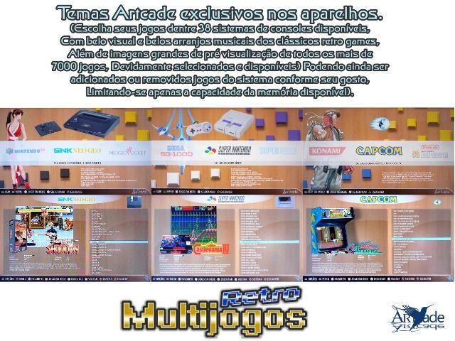 Arcade Fliperama Multijogos Retro 2 Players Tema: The King of Fighters 95 Com 7050 Jogos - Foto 4