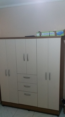 Guardar roupa 6 portas 2 gavetas e sapateira  - Foto 4