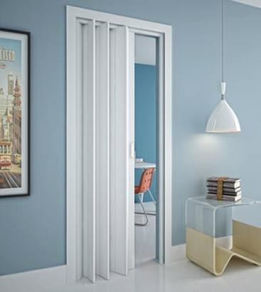Porta PVC Sanfonada Branca ou Marrom Nova de 0,70cm a 1,00m (valores na descrição) - Foto 2